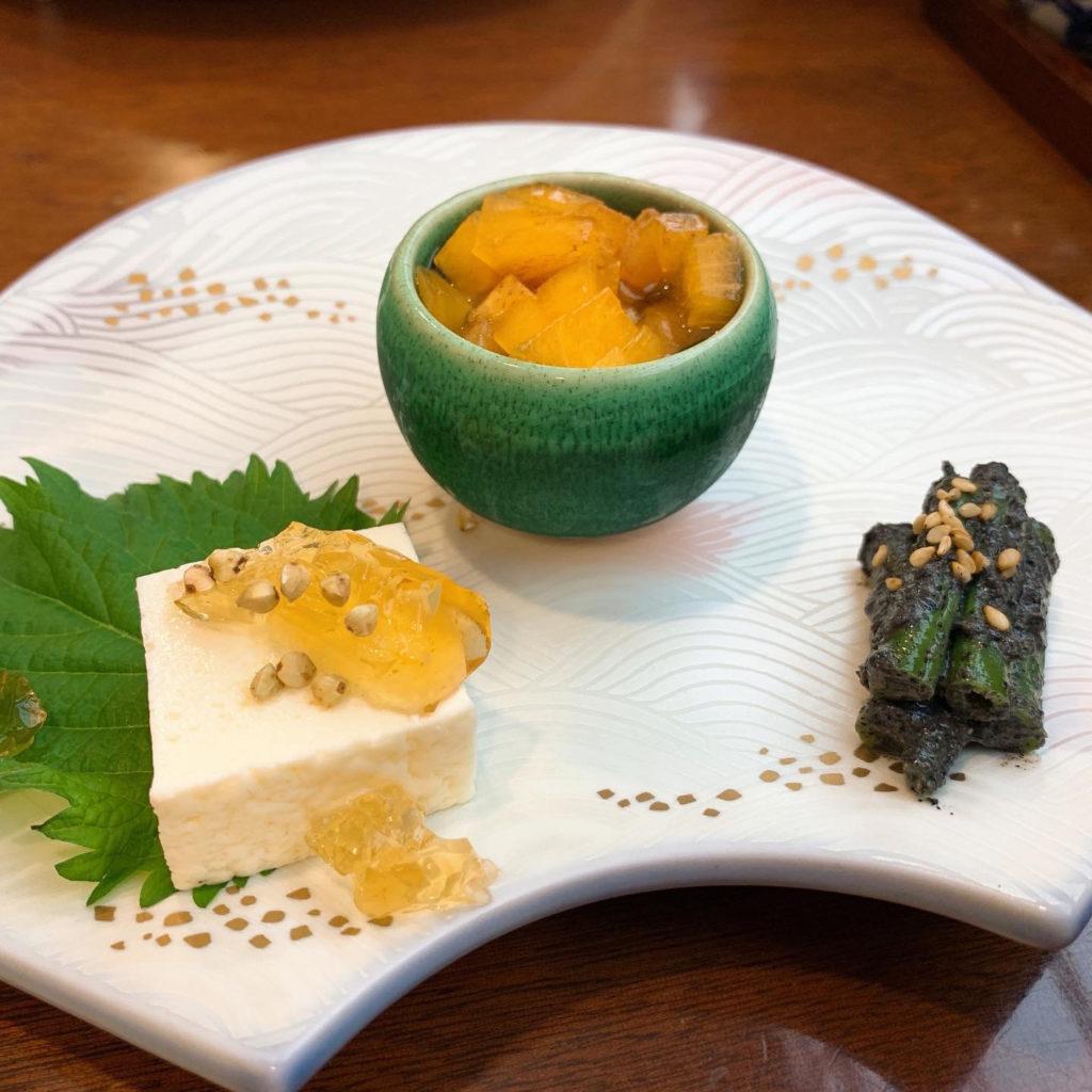 芳とも庵の前菜三種